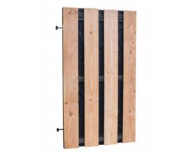 Douglas plankendeur zwart frame 100×190