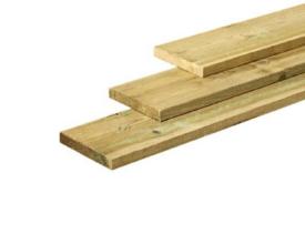 Fijnbezaagde ruwe plank Grenen 22x200mm